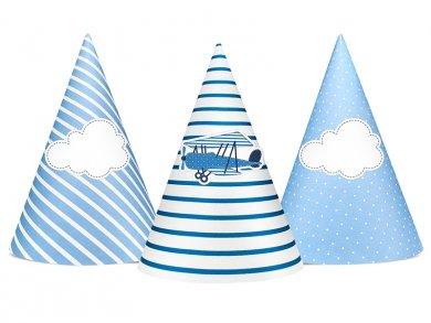 Little Plane party hats (6pcs)