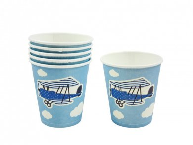 Little Airplane Paper Cups (6pcs)