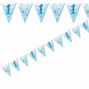 Twinkle little Star blue flag bunting