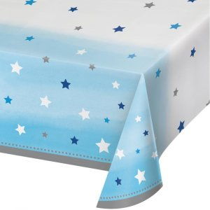 Twinkle Little Star Blue Plastic Tablecover