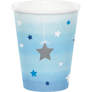 Twinkle Little Star Blue Paper Cups (8pcs)