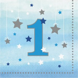 First Birthday Little Star Boy Luncheon Napkins (16pcs)