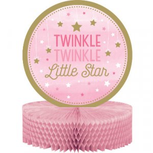 Twinkle Little Star Pink table decoration