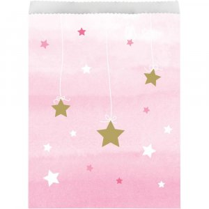 Twinkle Little Star Pink Paper Treat Bags 10/pcs