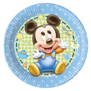 Baby Mickey Small Paper Plates (8pcs)
