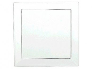 Mini Clear Plastic Plates for Cocktails and Hors d'oeuvres (10pcs)