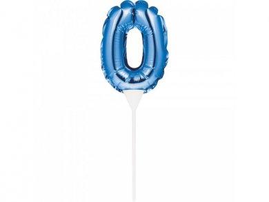 Μίνι Μπλε Foil Μπαλόνι Αριθμός 0