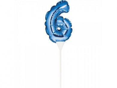 Μίνι Μπλε Foil Μπαλόνι Αριθμός 6