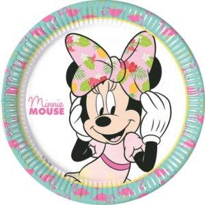 Minnie Tropical Large Paper Plates 8/pcs