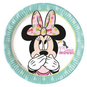 Minnie Tropical Small Paper Plates 8/pcs