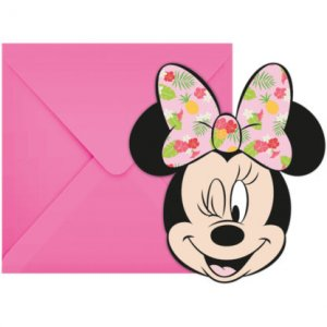 Minnie Tropical Party Invitations 6/pcs