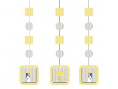 Mod Baby Shower Hanging Decorations (3pcs)