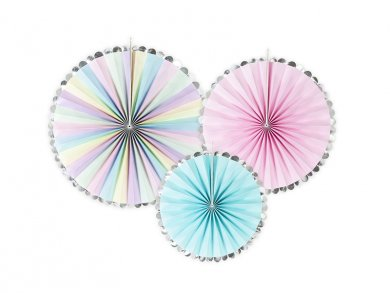 Unicorn Hanging Fan decoration 3/pcs