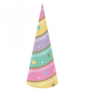Unicorn with Stars Party hats 8/pcs