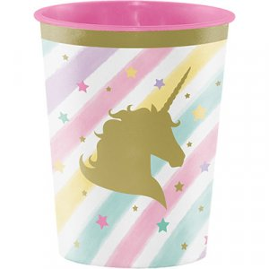Unicorn with Stars Plastic Cup