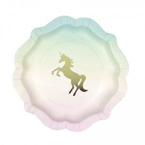Unicorn paper plates 12/pcs