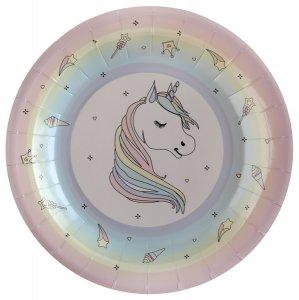 Unicorn Large Paper Plates 10/pcs
