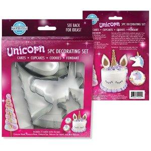 Unicorn cake decorating set