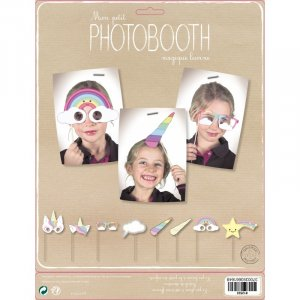 Unicorn Photobooth Props in Pastel Colors 8/pcs