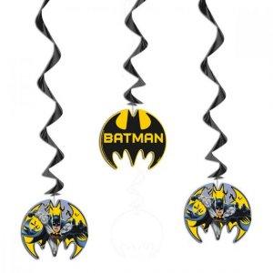 Μπάτμαν Batman Κρεμαστά Διακοσμητικά Σπιράλ (3τμχ)