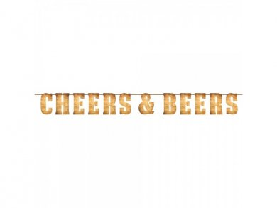 Cheers and Beers Letter Banner (2m)