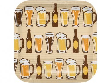Beer Small Paper Plates (8pcs)