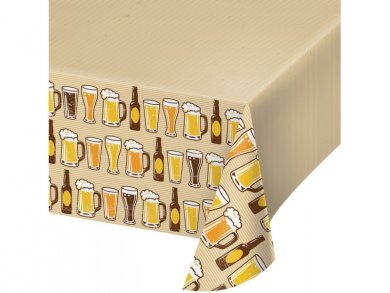Beer Plastic Tablecover (137cm x 259cm)