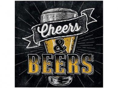 Beer Beverage Napkins Cheers and Beers (16pcs)