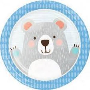 Blue Bear Large Paper Plates (8pcs)