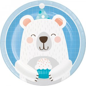 Blue Bear Small Paper Plates 8/pcs