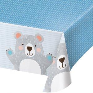 Blue Bear Plastic Tablecover