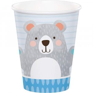 Blue Bear Paper Cups (8pcs)