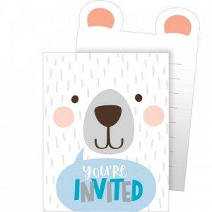 Blue Bear Party Invitations (8pcs)