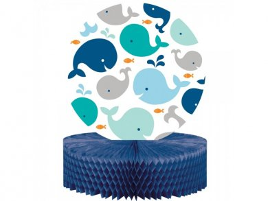 Blue Little Whale centerpiece (22cm x 30cm)