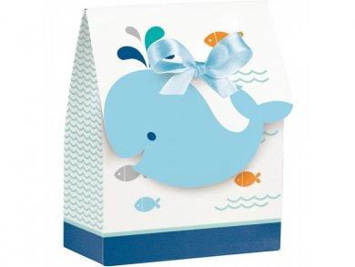 Blue Little Whale Paper Favor Bags (12pcs)