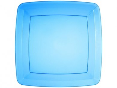 Blue Large Square Plastic Plates 8/pcs