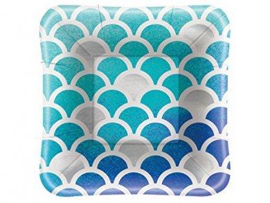 Ocean Blue small paper plates 8/pcs