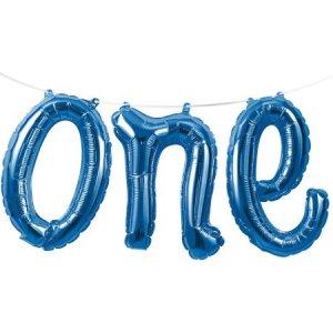 Μπλε One Foil Μπαλόνι Γιρλάντα