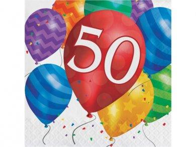 50 Balloon Blast Luncheon Napkins (16pcs)
