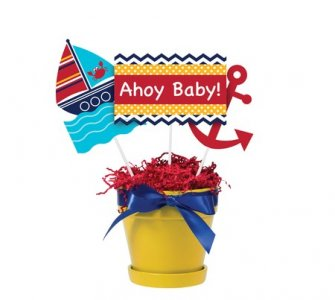 Navy Theme Centerpiece Sticks Ahoy Baby (3pcs)