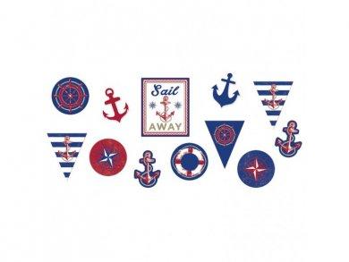 Ναυτικό Θέμα Εικόνες Χάρτινες (12τμχ)