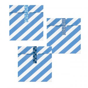 Navy Theme Treat Bags with Stickers (6pcs)