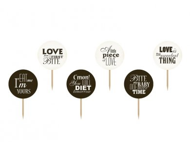 Sweet Love toppers 6/pcs
