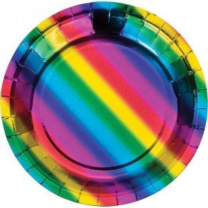 Rainbow Small Paper Plates 8/pcs