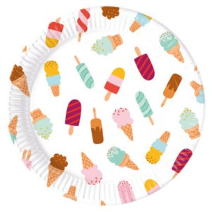 Ice Cream Large Paper Plates 8/pcs