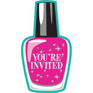 Spa party invitations 8/pcs