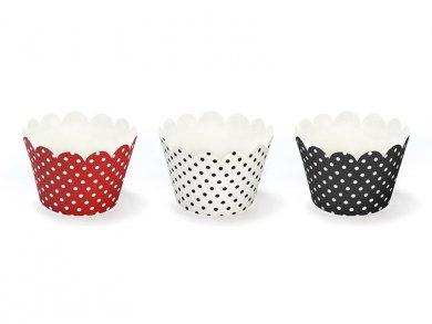 Ladybug cupcake wrappers (6pcs)