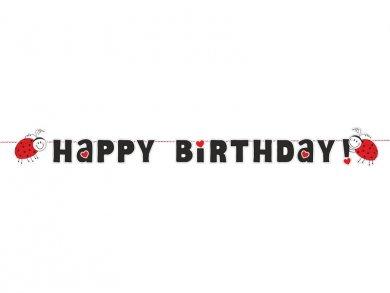 Ladybug Happy Birthday Garland