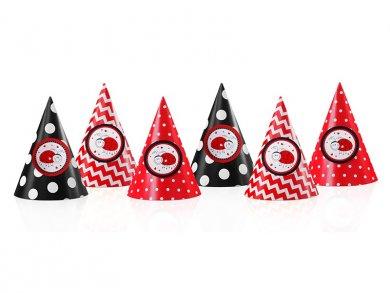 Ladybug Party hats 6/pcs