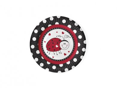 Ladybug Small Paper Plates (6pcs)